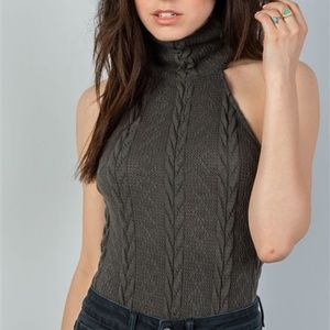 2d269dd2524399 NAOMI CABLE KNIT SWEATER BODYSUIT gray